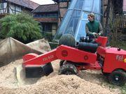 Dienstleistung Baumwurzel ausfräsen Wurzelfräsen Baumstumpf