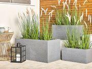 Blumentopf grau rechteckig 50 x