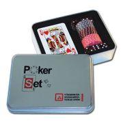 Poker Set in Metall-Geschenkdose - 55