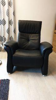 Sitzgarnitur Leder schwarz von Mondo