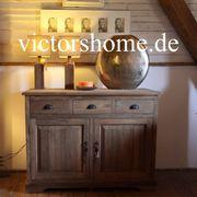Sideboard Kommode Echtholz Natur teakboard