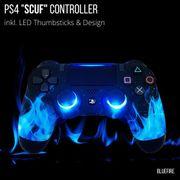 LuxController PS4 SCUF CONTROLLER BLUEFIRE