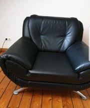 Schwarzer Sessel Couch