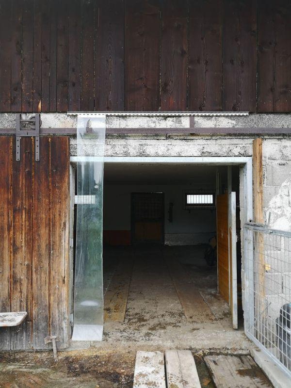 Streifenvorhang für Stall