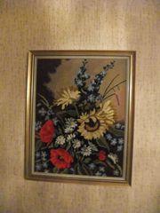 Bild Sommerstrauss mit Sonnenblumen Klatschmohn