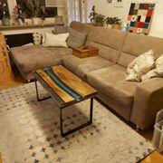 Couch Wohnlandschaft Ecksofa mit Schlaffunktion