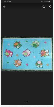 Kinderzimmer Teppich von Kibek Eulen