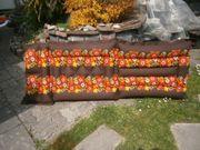 Luftmatratze orange geblümt drei Kammern