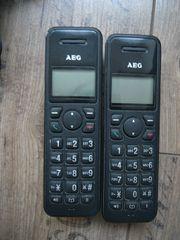 2 Stück Funktelefone AEG EOLE