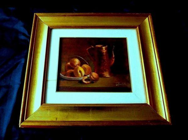 tolles altes Gemälde Ölgemälde signiert
