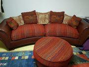 Couch mit Sitzhocker sehr guter