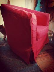2 rote Hussen Überzüge für