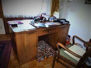 Schreibtisch Nuss baumfurniert Massivholz Arbeitszimmer
