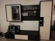 Tv-Möbel Wohnwand Anbauwand TV-Board Eiche