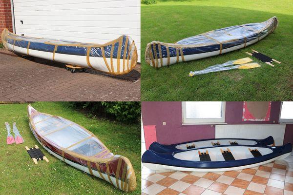 Boot Canadier Kanadier Kanu Kajak 1 bis 4 Sitze + Zubehör neu
