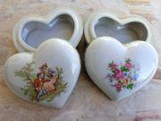 Set Alte Porzellanherzen Porzellan Herzen