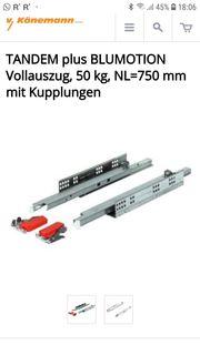 Schubladenführung 750mm Schwerlaszauszug Vollauszug