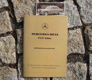 Betriebsanleitung Mercedes 220a Ponton W180