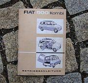 Betriebsanleitung Fiat 500 F Kombi