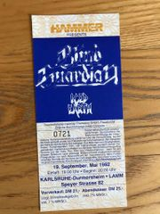 Blind Guardian Ticket Konzertkarte alt