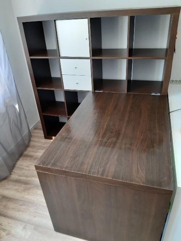 Ikea Besta Regal Mit Schreibtisch