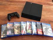 PS4 6 Spiele und Controller