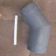Rauchrohrbogen Ofenrohr 150mm - 45° schwarz