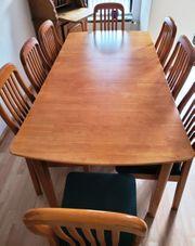 Esstisch mit 8 Stühlen Kirschbaum