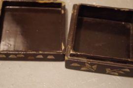 Kunst, Gemälde, Plastik - Schatulle Box Perlmutt Lack Vintage