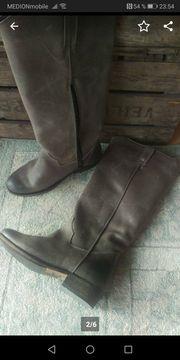 BRONX - Stiefel Leder - grau - used-Look -