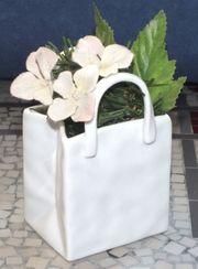 Deco-Tasche Pure White Vase aus