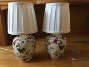 2 Lampen aus Porzellan NEU