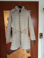Damen-Wintermantel hellgrau silber Gr XL