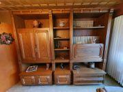 Vintage Echtholzfurnier Wohnzimmerschrank Wohnwand Schrankwand