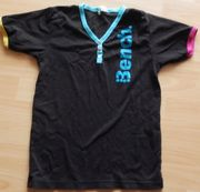 T-Shirt Gr 140 schwarz mit