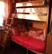 hochwertiges extra hohes Etagenbett - Erle