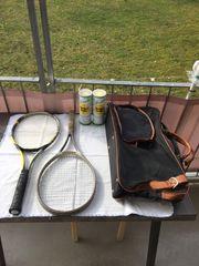 Tennisschläger -Set 2 Schläger Tasche