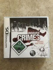 Nintendo DS Spiel - Unsolved Crimes