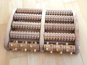 Fussmassageroller aus Holz - Reflexzonen Fussmassagegerät