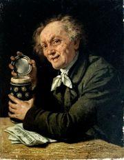 Meister-Ölgemälde EBERHARD STAMMEL 1833 Zecher
