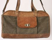 Canvas Reisetasche Travel Bag Leather