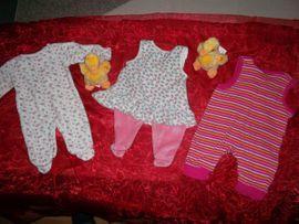 Babykleidung/ -schuhe - neu 3 süsse babystrampler pusblu
