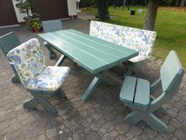 Gartenmöbel - Massive Sitzgarnitur für Terasse oder