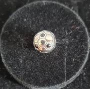 Echt Silber Charm Fussball
