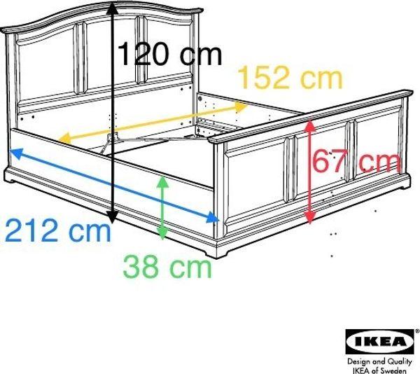 Ikea Birkeland Bett 140x200 Cm Weiß Mit Lattenrost Landhaus Stil In