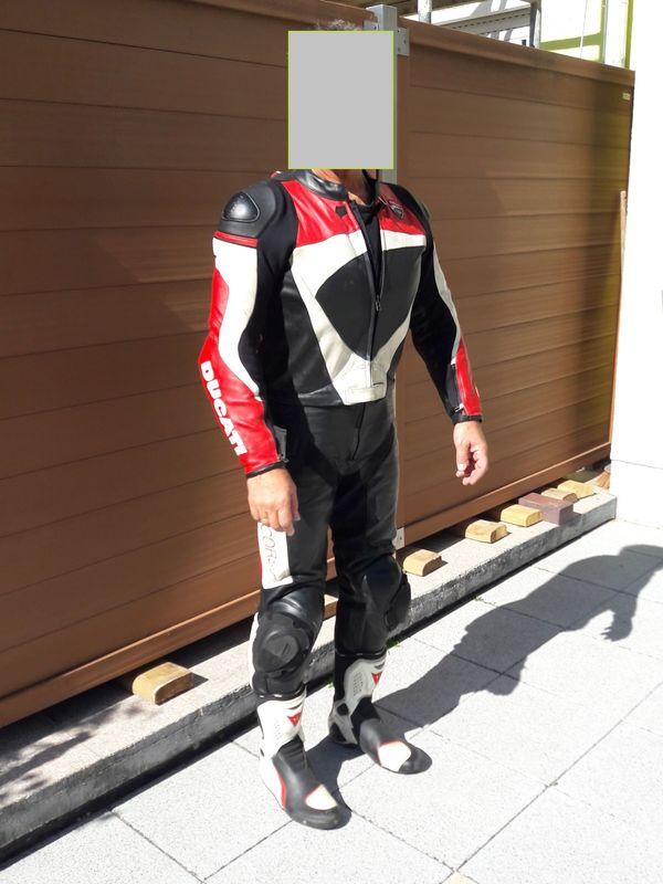 Ducati Lederkombi 52 rot weiss