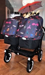 Bugaboo Donkey Doppeltes schwarzes Kinderwagen