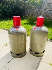 2 Gasflaschen leer grau 5kg