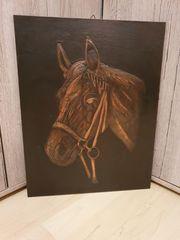 Pferde-Reliefbild