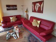Leder Couch 2er 3er Sofa